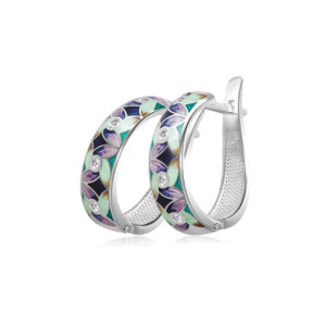31 100 1s 1 300x300 - Серьги-полукольца из серебра «Ветерок», фиолетово-зеленые
