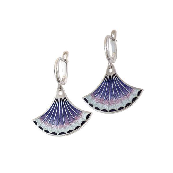 Серьги «Тамтам», фиолетовая