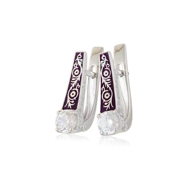 31 125s 1 600x600 - Серьги с английским замком «Спас на Крови» из серебра, фиолетовый