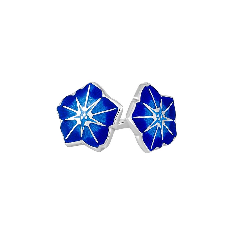 3 04p 3s 2 1 - Пуссеты «Петуния», синие