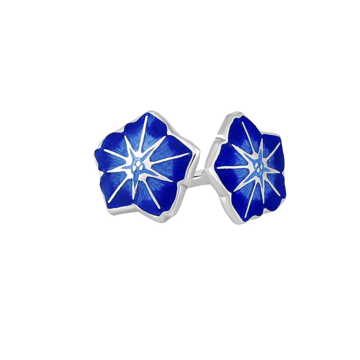 3 04p 3s 2 - Пуссеты «Петуния», синяя