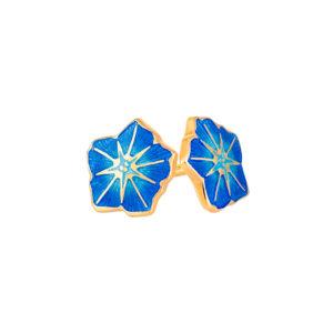 3 04p 3z 1 300x300 - Пуссеты «Петуния» (золочение) из серебра, синие