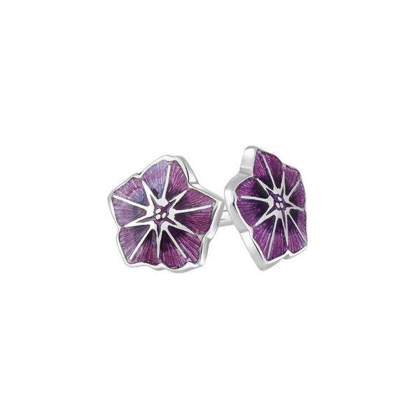 3 04p 4s 2 1 600x600 - Пуссеты «Петуния» из серебра, фиолетовые
