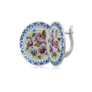 3 24 bel sin 1200x1050 1 300x300 - Серьги из серебра круглые «Жостово», бело-синие