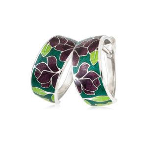 3 27 3s 1 300x300 - Серьги-полукольца «Клематис», фиолетово-зеленые