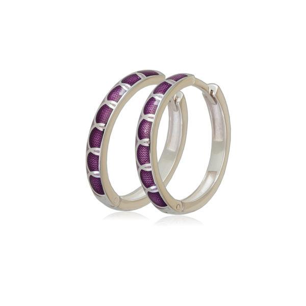 3 31 3s 1 600x600 - Серьги серебряные «Седмица», фиолетовые