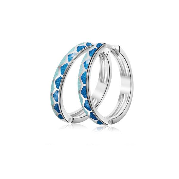 3 36 1s 4 600x600 - Серьги серебряные «Седмица», синие