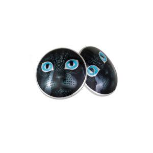 3 45p 2s 1 300x300 - Пуссеты «Кошачьи глазки» из серебра, голубые