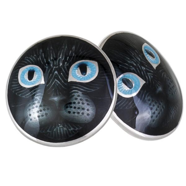 Пуссеты «Кошачьи глазки», голубая