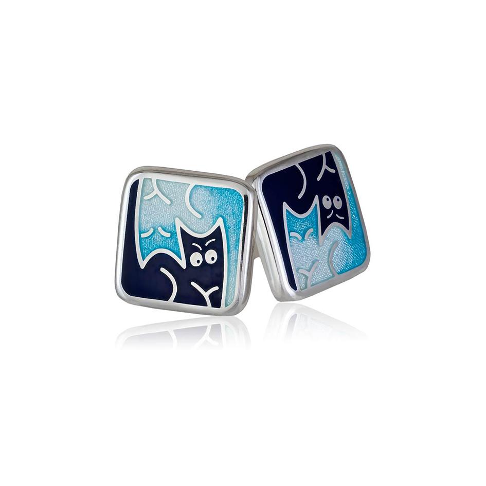 3 59 1s 2 1 - Пуссеты «Котики Инь-Ян», синие
