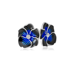 3 69 1s 1 1 300x300 - Пуссеты «Анютины глазки», темно-синие