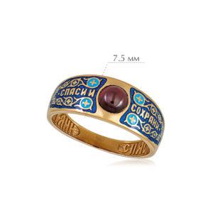 6 60 5 300x300 - Перстень «Спаси и сохрани» (золочение), синяя