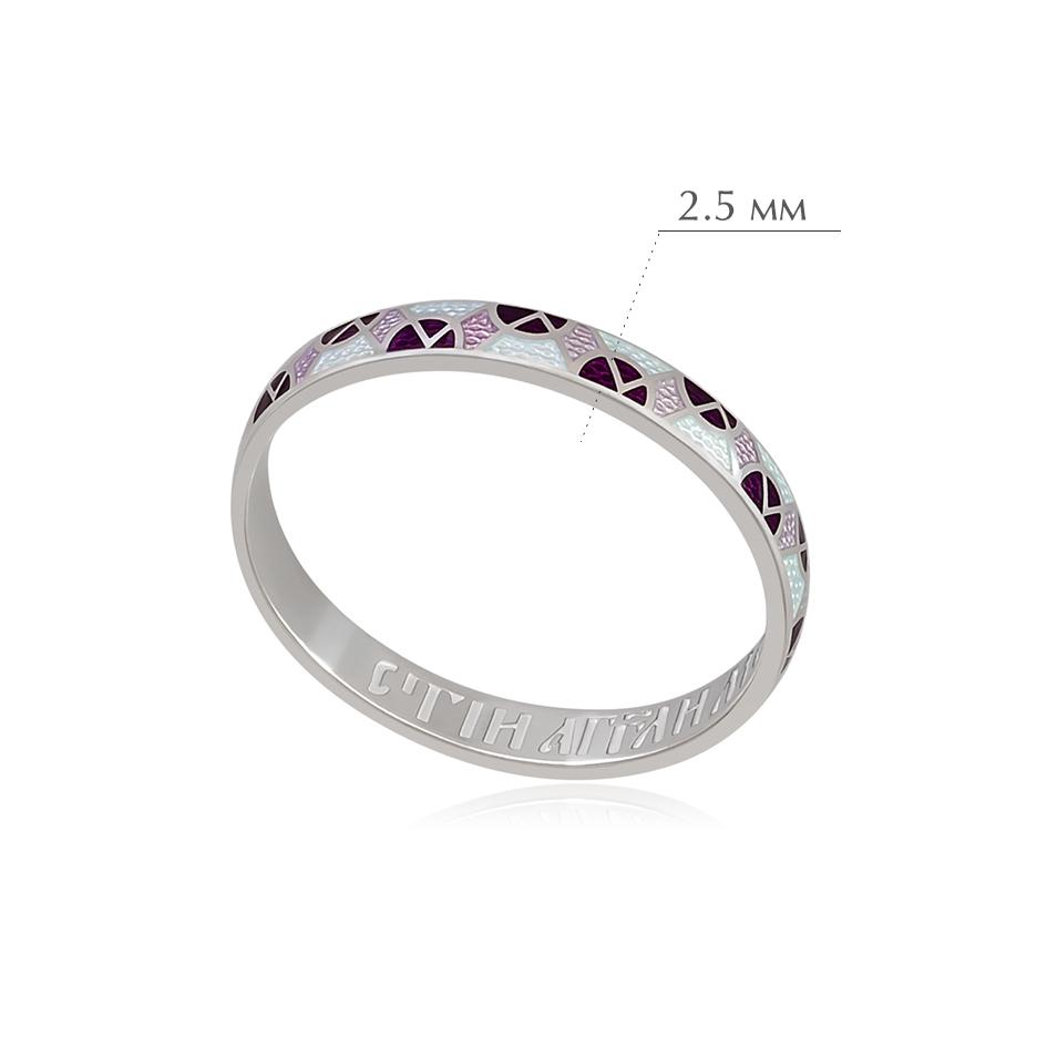 6.30 1 - Кольцо из серебра «Седмица», фиолетово-белое