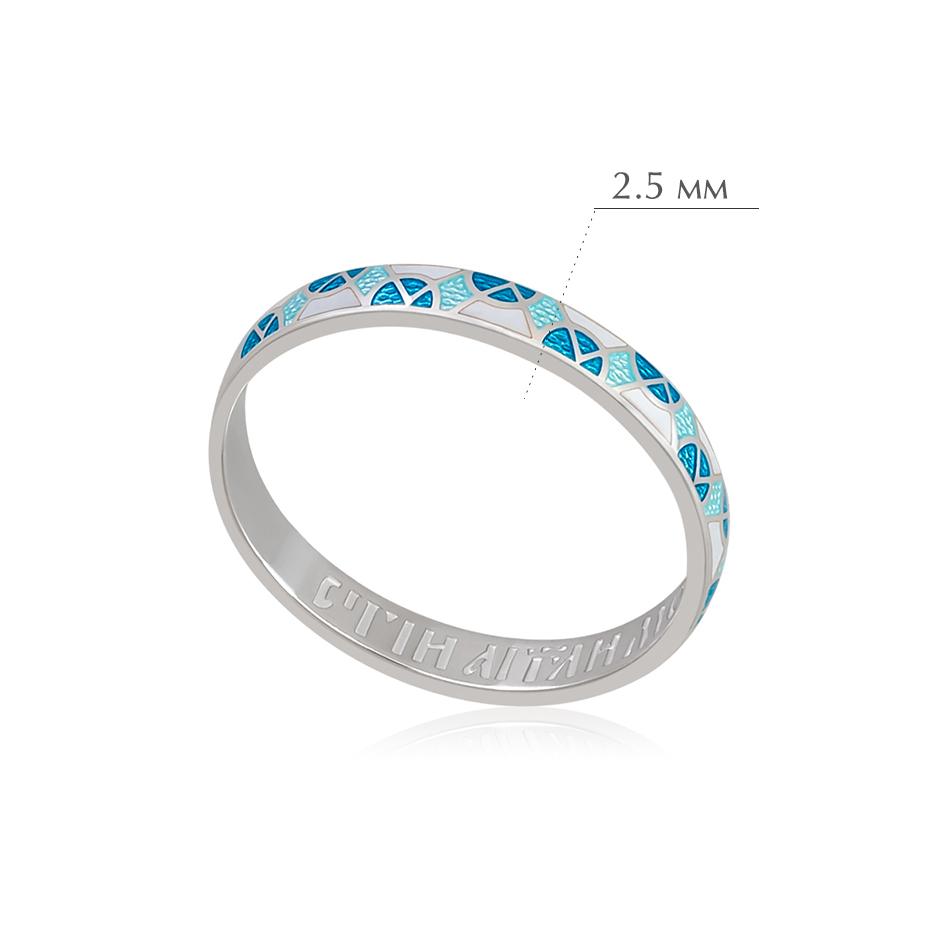 6.30 2 - Кольцо из серебра «Седмица», бирюзовое