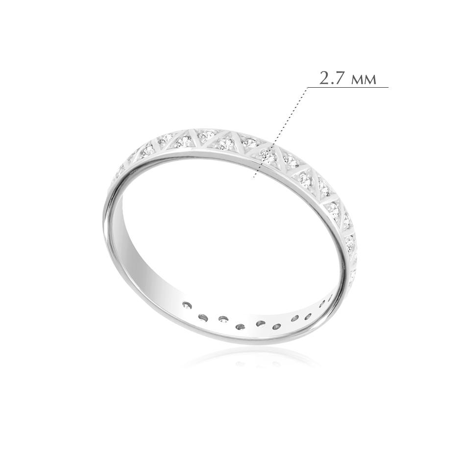 6.38 - Кольцо из серебра с фианитами