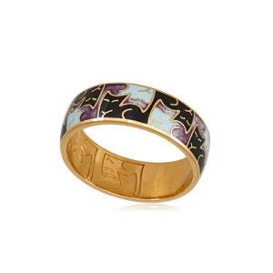 6.59z 3sh 3 300x300 - Кольцо из серебра «Котики Инь-Ян» (золочение), фиолетовое