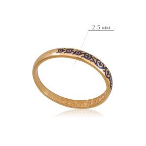 6.61 3 300x300 - Кольцо из серебра «Молитва мытаря» (золочение), фиолетовое