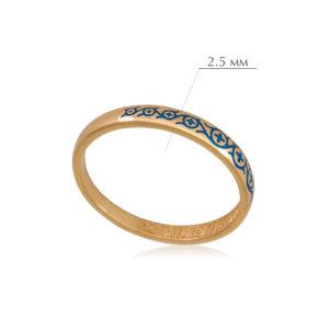 6.61 4 300x300 - Кольцо из серебра «Молитва мытаря» (золочение), синее