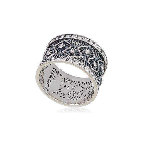 61 104s 1 1 600x600 - Кольцо из серебра «Ришелье»