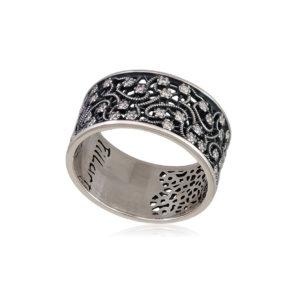 61 105 kruzhevo 1 300x300 - Кольцо из серебра «Кружевница» с фианитами
