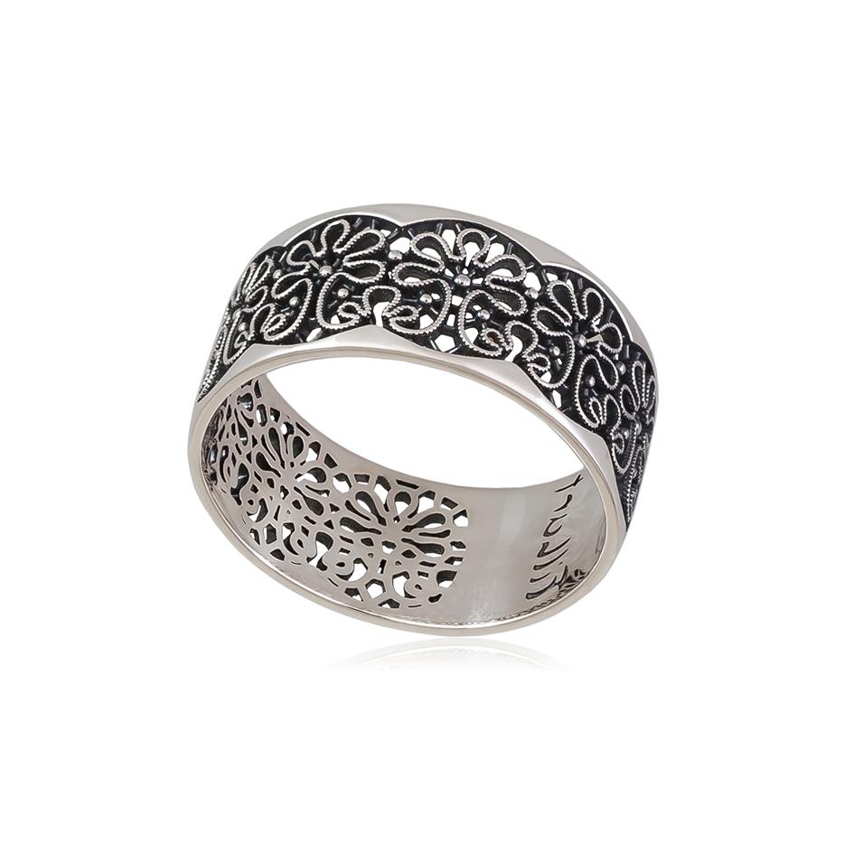 61 106s 1 - Кольцо из серебра «Вологодские Кружева»
