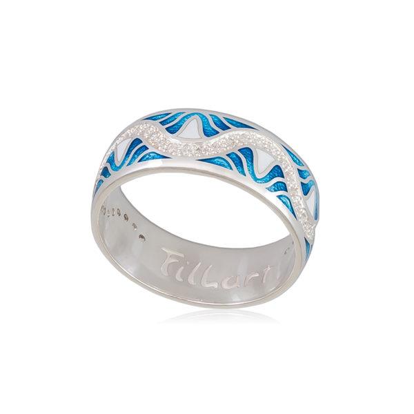 61 109 1s 1 600x600 - Кольцо «Афродита», голубое с фианитами