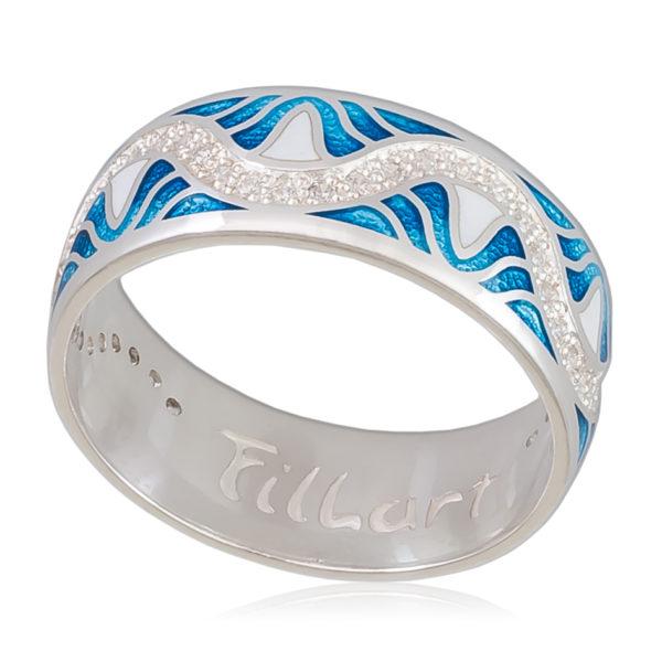 Кольцо «Афродита», голубая