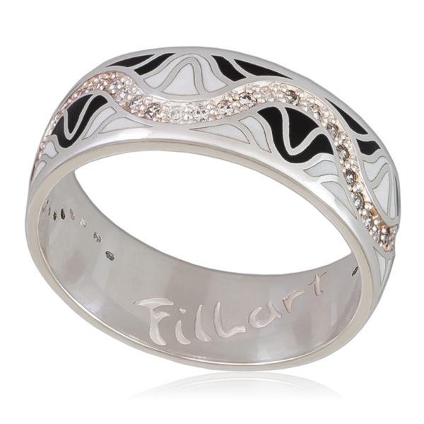 Кольцо «Афродита», черно-белая