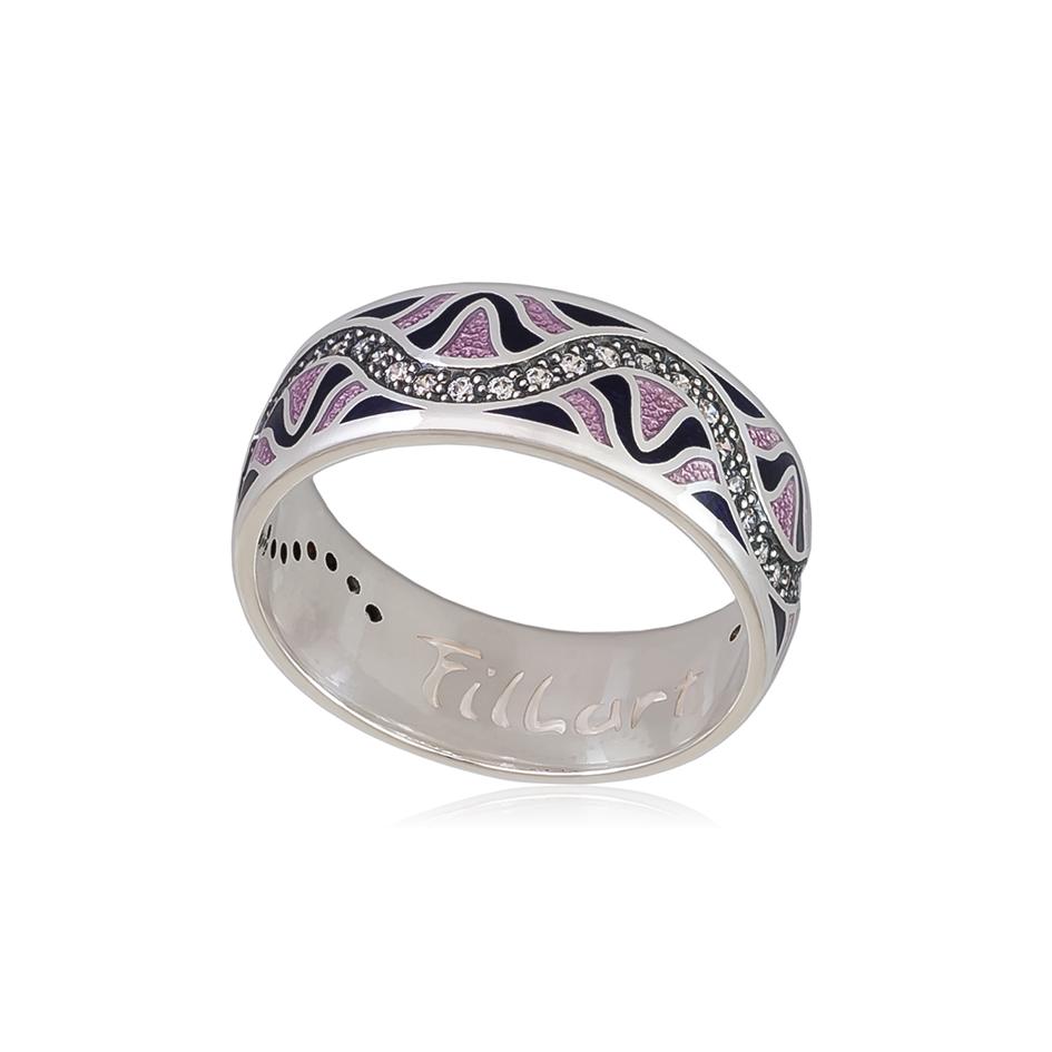 61 109 3s 1 - Кольцо из серебра «Афродита», фиолетовое с фианитами