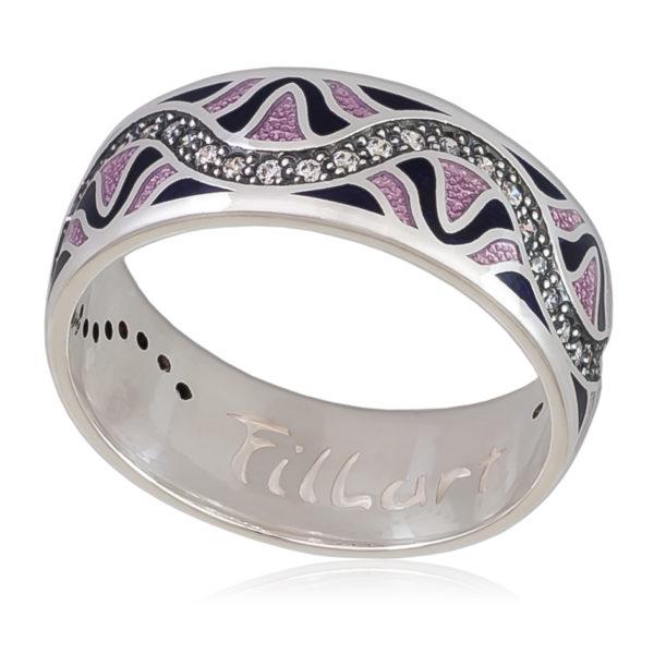 Кольцо «Афродита», фиолетовая