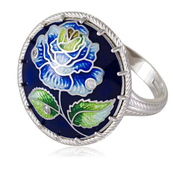 61 110 1s 1 600x600 - Перстень «Роза», синяя
