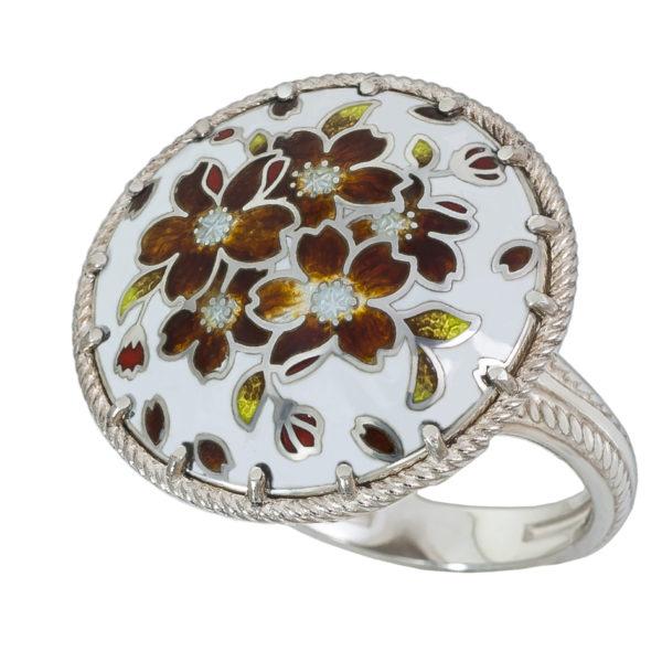 61 111 2s 600x600 - Перстень «Букет», терракотовый