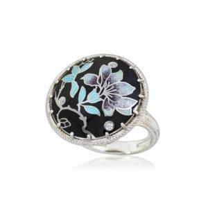 61 112 1s 4 300x300 - Перстень серебряный «Примавера», мятный с фианитами
