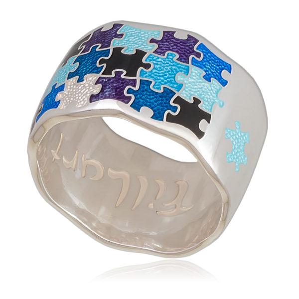 61 116 2s 600x600 - Кольцо «Пазлы», разноцветная