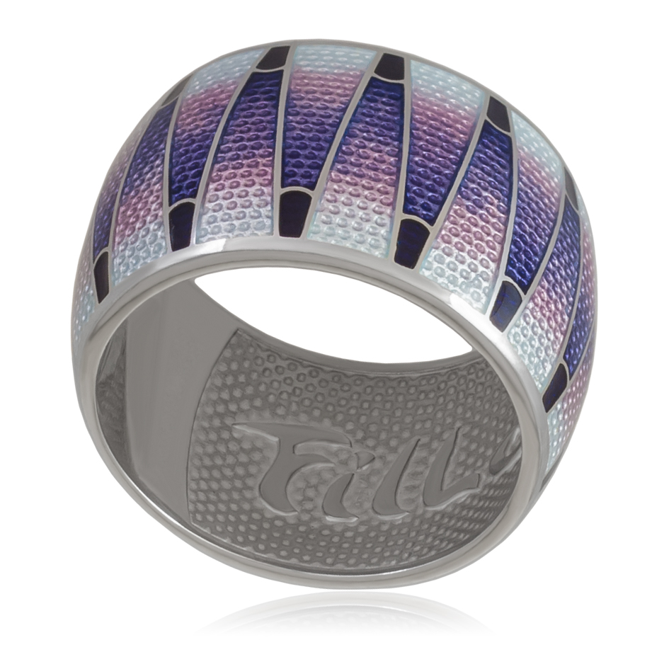 61 117 3s - Кольцо «Тамтам», фиолетовая