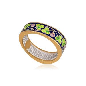61 123 2z 1 1 300x300 - Кольцо из серебра «Спас-на-крови» (золочение), зеленая