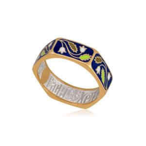 61 124 2z 1 1 300x300 - Кольцо из серебра «Спас-на-крови» (золочение), синяя