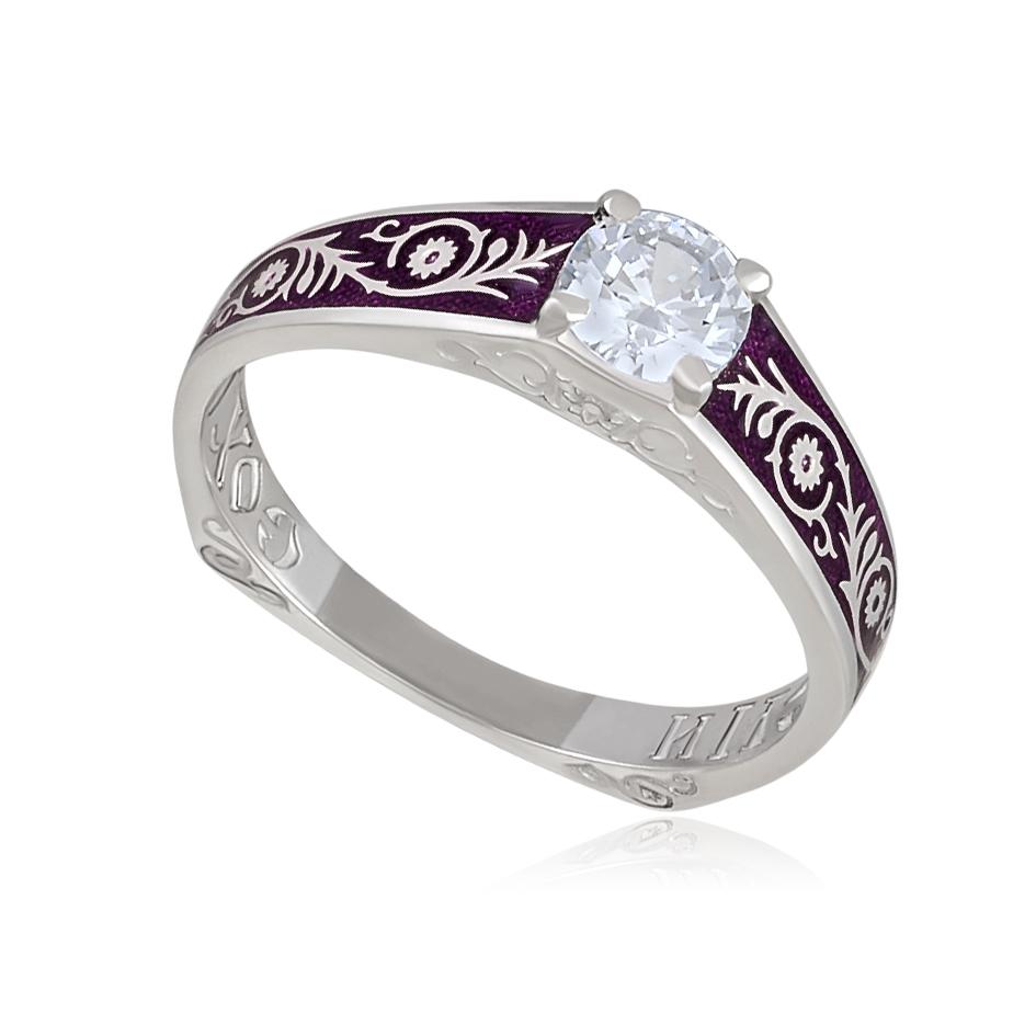 61 125 1s - Перстень «Спас-на-крови», фиолетовая