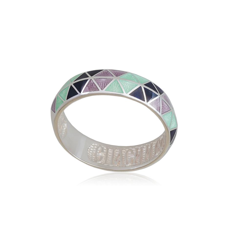 61 129 2s 4 - Кольцо из серебра «Отражение», трехцветное
