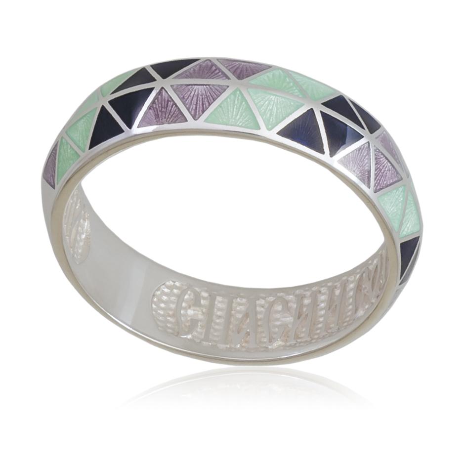 61 129 2s - Кольцо «Отражение», трехцветная