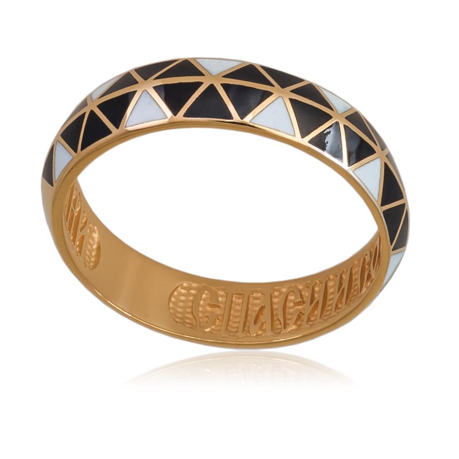 61 129 2z 1 - Кольцо «Отражения» (золочение), змейка