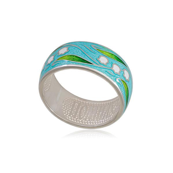 61 134 1s 1 600x600 - Кольцо из серебра «Ландыши», голубое