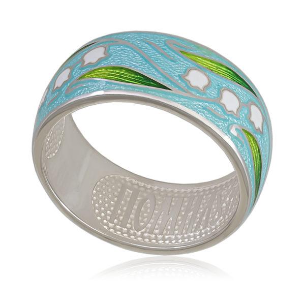 Кольцо «Ландыши», голубая