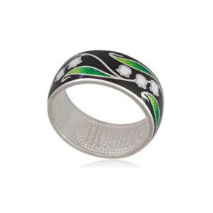 61 134 2s 1 300x300 - Кольцо из серебра «Ландыши», черное