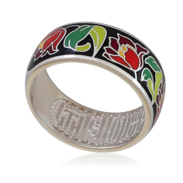 61 136 6s  600x600 - Кольцо «Тюльпаны», красно-черная