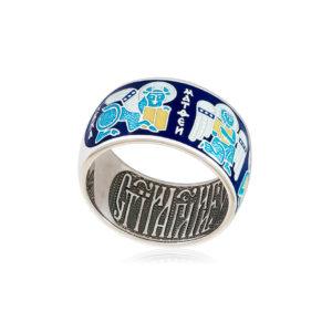 61 137 1s 1 300x300 - Кольцо из серебра «Евангелисты», синяя