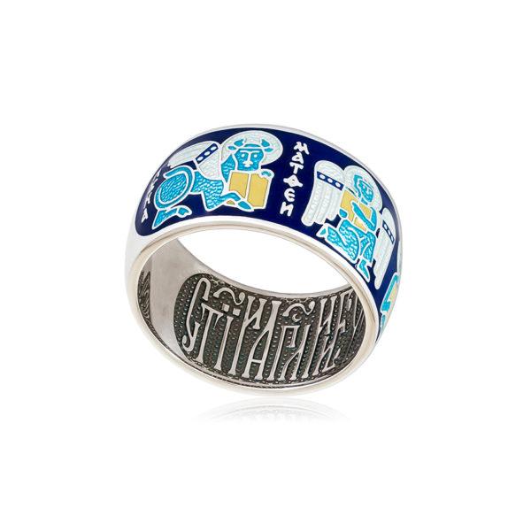 61 137 1s 1 600x600 - Кольцо из серебра «Евангелисты», синяя