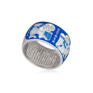 61 137 2s 1 300x300 - Кольцо из серебра «Евангелисты», голубая