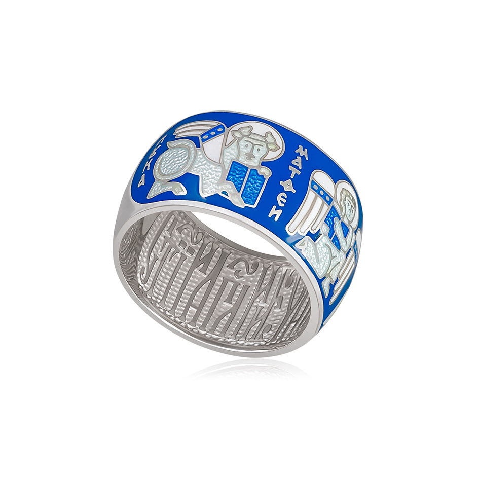 61 137 2s 1 - Кольцо «Евангелисты», голубая