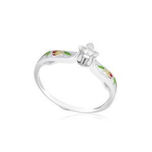 61 138 1s 1 300x300 - Перстень серебряный «Примавера», белый с фианитами